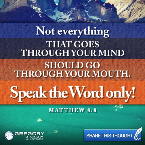 Speak the Word Only